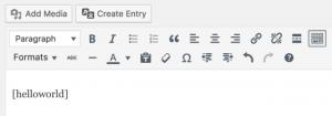 Bonjour, exemple de code court dans l'éditeur de texte